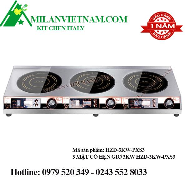 Bếp từ công nghiệp mỏng 3 mặt HZD-3KW-PXS3
