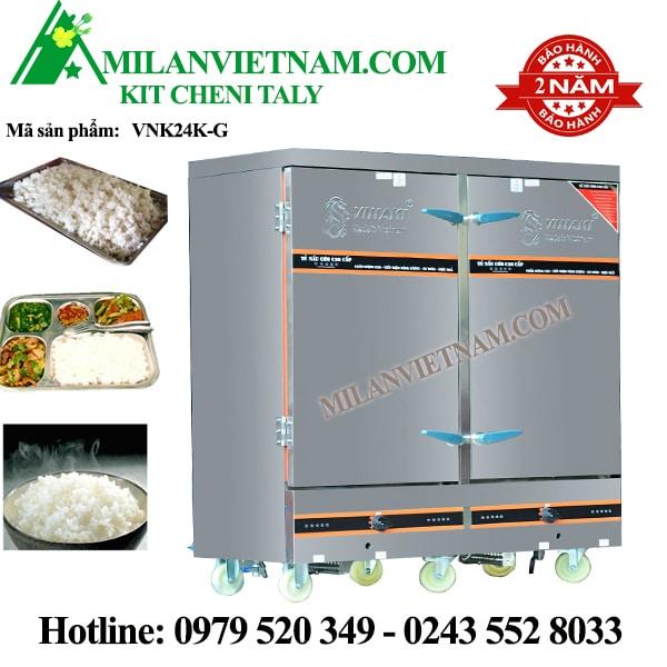 Tủ nấu cơm bằng gas 24 khay Vinaki VNK24K-G