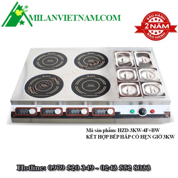 Bếp từ công nghiệp mỏng 3kW có hẹn giờ HZD-3KW-4F+BW