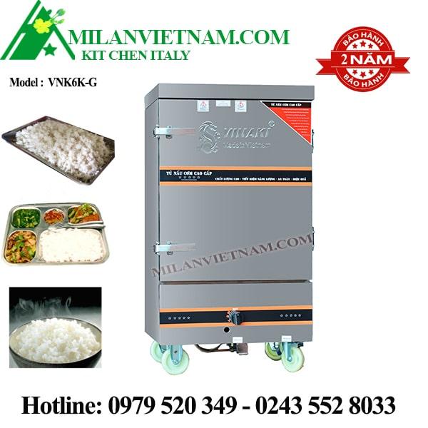 Tủ nấu cơm ga 6 khay Vinaki VNK6K-G