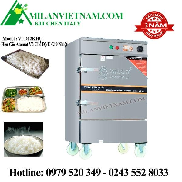 Tủ nấu cơm điện 12 khay VI-D12KHU có hẹn giờ và ủ giữ nhiệt