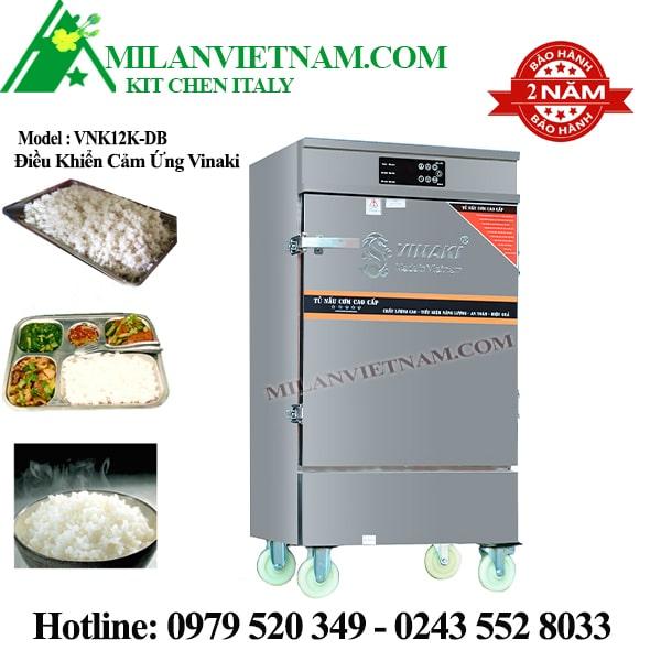 Tủ nấu cơm điện 12 khay Vinaki VNK12K-DB có cảm ứng
