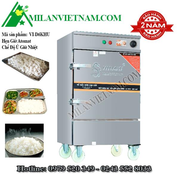 Tủ nấu cơm điện 6 khay Vinaki VI-D6KHU