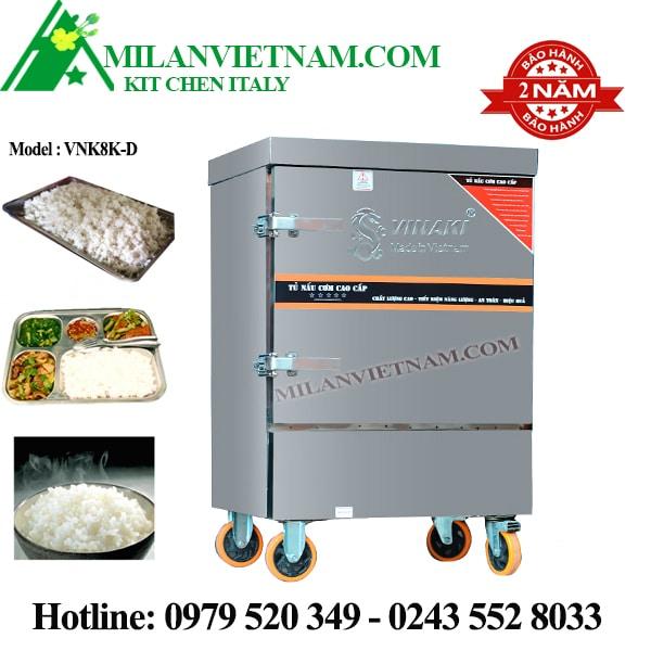 Tủ nấu cơm 8 khay dùng điện VNK8K-D