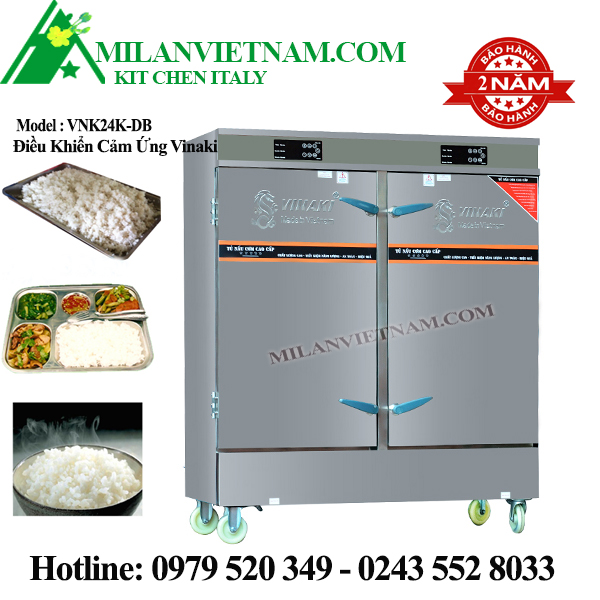 Tủ nấu cơm điện 24 khay VNK24K-DB có bảng điều khiển