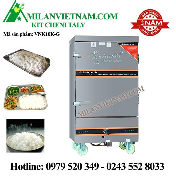 Tủ nấu cơm gas  10 khay Vinaki VNK10K-G