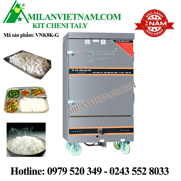 Tủ nấu cơm gas 8 khay Vinaki VNK8K-G