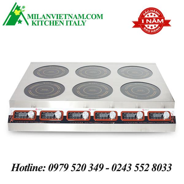 Bếp từ công nghiệp vuông 6 mặt phẳng mỏng có hẹn giờ 3.5KW HZD-3.5KW-PB6F