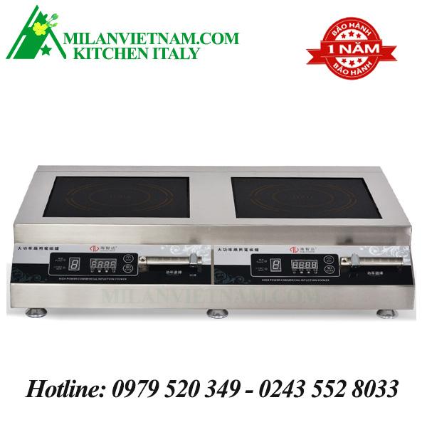 Bếp từ công nghiệp đôi phẳng có hẹn giờ HZD-3.5KW-PCS2