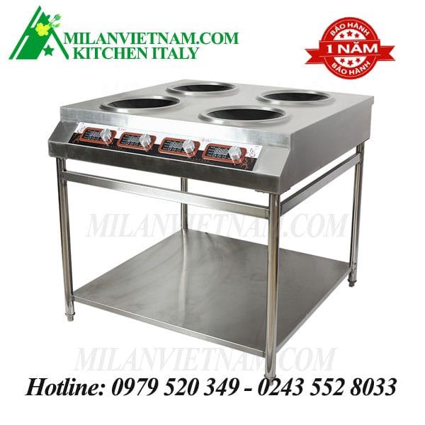 Bếp từ công nghiệp 4 mặt lõm có giá kệ 5KW HZD-5KW 4LT