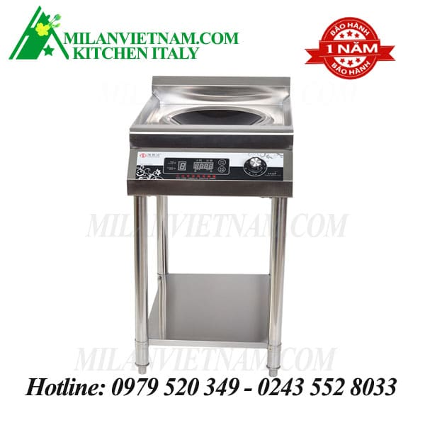 Bếp từ công nghiệp có giá kệ có hẹn giờ 5KW HXD-5KWA-AXLDY