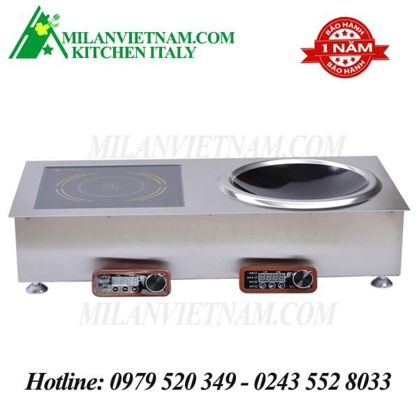 Bếp từ công nghiệp đôi lắp âm có giờ hẹn 5KW HZD-5KW-XAX/XPX