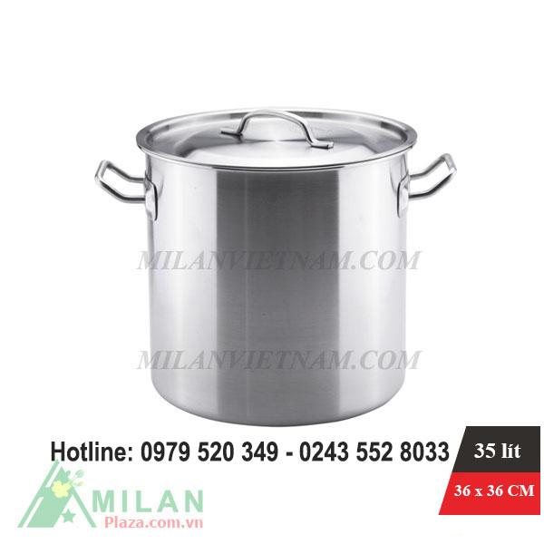 Nồi inox dùng cho bếp từ công nghiệp 35 Lít