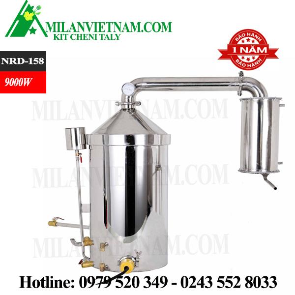 Nồi nấu rượu inox dùng điện, nồi chứng cất tinh dầu 158 lít NRD-158