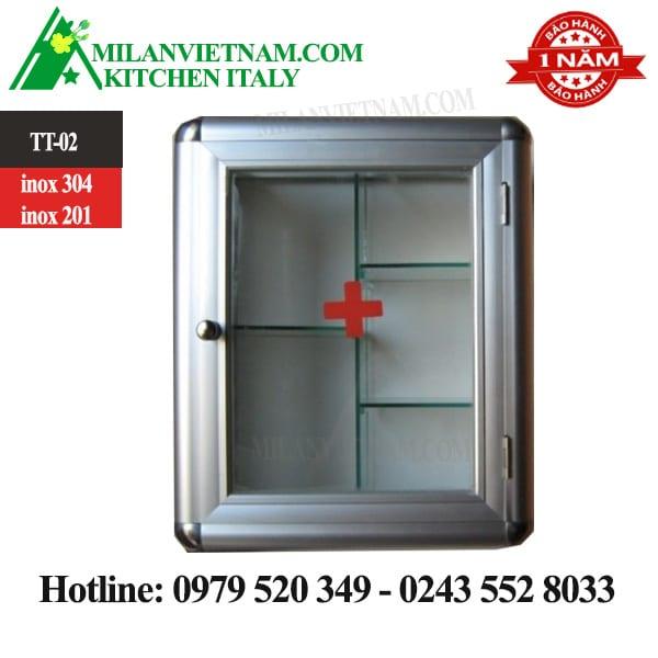 Tủ thuốc inox y tế TT-02