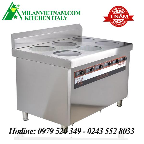Bếp từ công nghiệp lớn 6 mặt phẳng có hẹn giờ 3KW HZD-6X3KW-LD6F