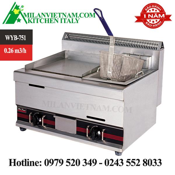 Bếp nướng- bếp chiên nhúng gas WYB-751
