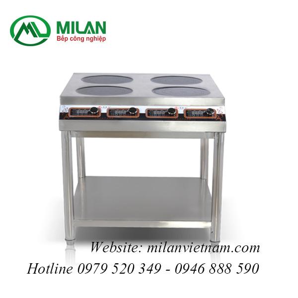 Bếp từ công nghiệp phẳng có 4 mặt từ có giá hẹn giờ 3.5KW HZD-4X3500-XKPS
