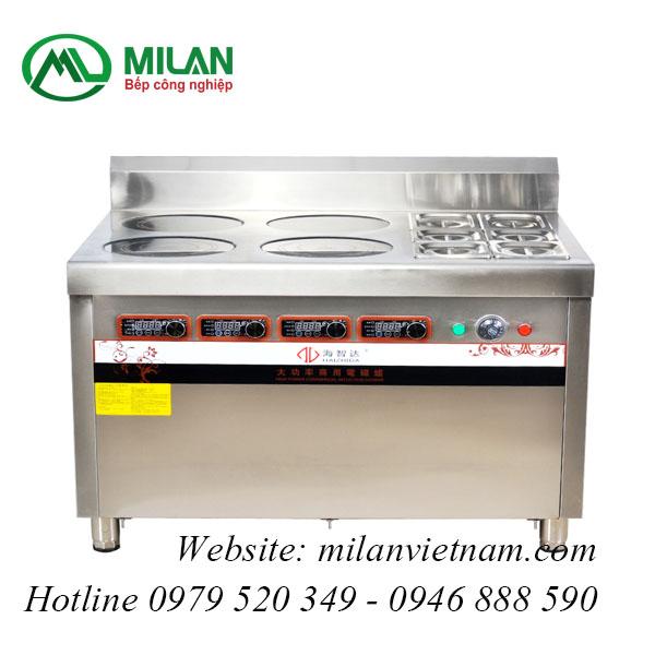 Bếp từ công nghiệp kết hợp chức năng hấp HZD-3.5KWX4L-BW