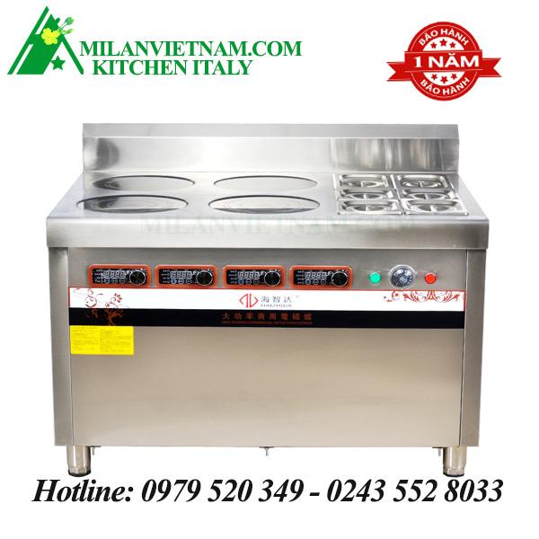 Bếp từ công nghiệp kết hợp bếp hấp 3KW HZD – 3KWX4L-BW