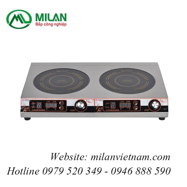 Bếp từ công nghiệp đôi tròn mỏng có hẹn giờ HZD-F3.5KW-PXS2
