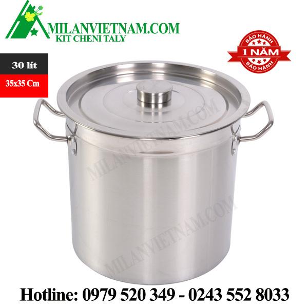 Nồi inox dùng cho bếp từ công nghiệp 30 Lít