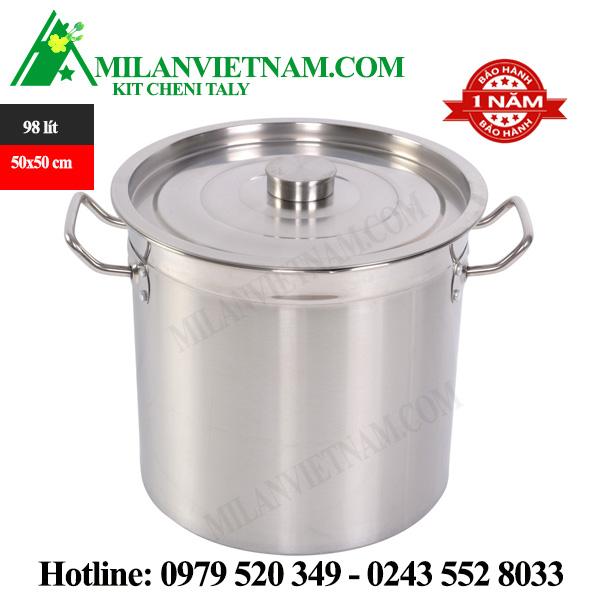 Nồi inox dùng cho bếp từ công nghiệp 98 Lít