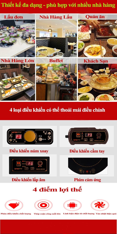 Bếp từ nhà hàng lẩu YP-C196