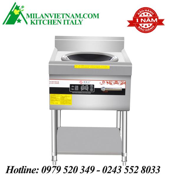 Bếp cong nghiệp lõm có giá kệ có hẹn giờ 12kw HZD-12kw-ASCLX