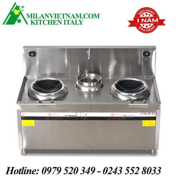 Bếp từ công nghiệp 2 mặt lõm và bếp hầm có vòi rửa 8KW HZD-2X8KW-400ACS