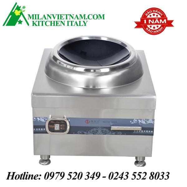 Bếp từ công nghiệp lớn mặt lõm 8KW HZD-8KW-ACDKR