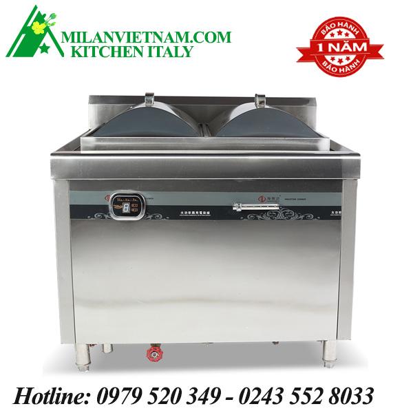 Bếp từ công nghiệp 2 mặt hấp 8KW HZD-8KW-DXL