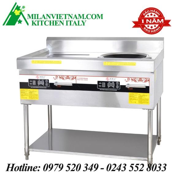 Bếp từ công nghiệp đôi có giá kệ có hẹn giờ 15KW HZD-15KWX2-ASCLX