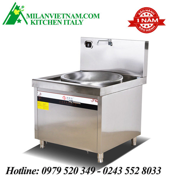 Bếp từ công nghiệp lõm có vòi rửa 12KW HD-12KW-XDLD800