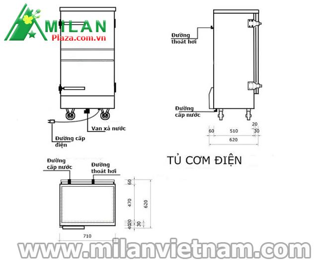 hướng dẫn lắp đặt tủ nấu cơm công nghiệp bằng điện