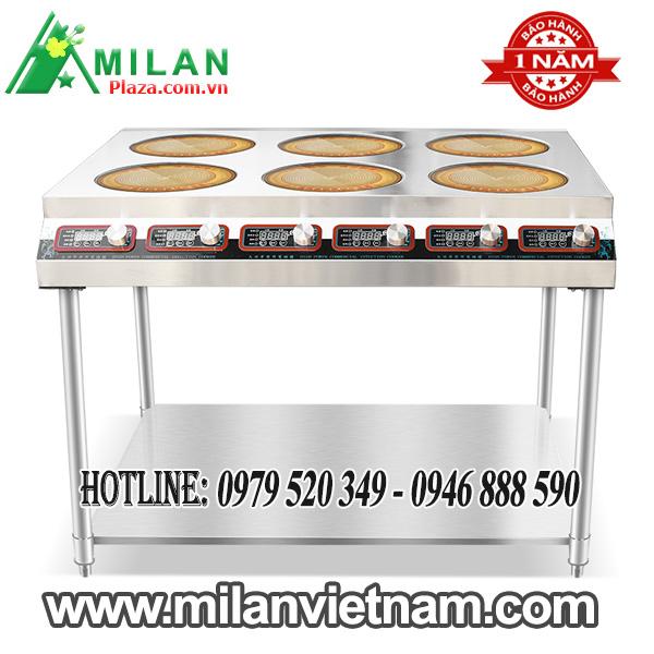 Bếp điện công nghiệp 6 mặt có giá phẳng dưới– Bếp hồng ngoại công nghiệp 6 mặt có giá phẳng dưới 3.5KW HZD-3.5KW-DT6LT