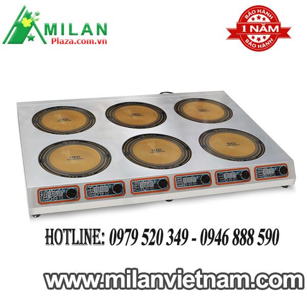 Bếp điện công nghiệp 6 mặt phẳng – Bếp hồng ngoại công nghiệp 6 mặt phẳng 2.5KW HZD-6X2.5KW-DTPBF