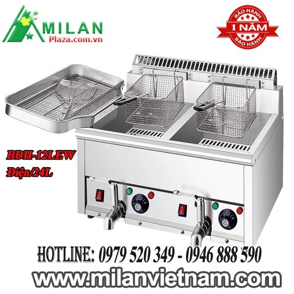 Bếp chiên nhúng đôi dùng điện có vòi xả 24L BDH-12LEW