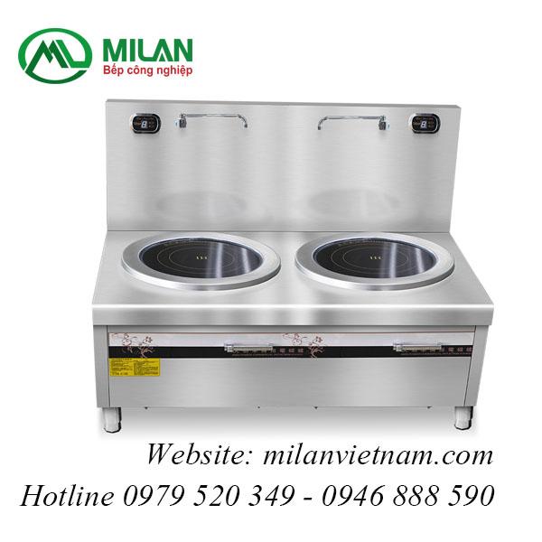 Bếp từ công nghiệp phẳng đôi có vòi rửa HZD-12KW-2PDKCL