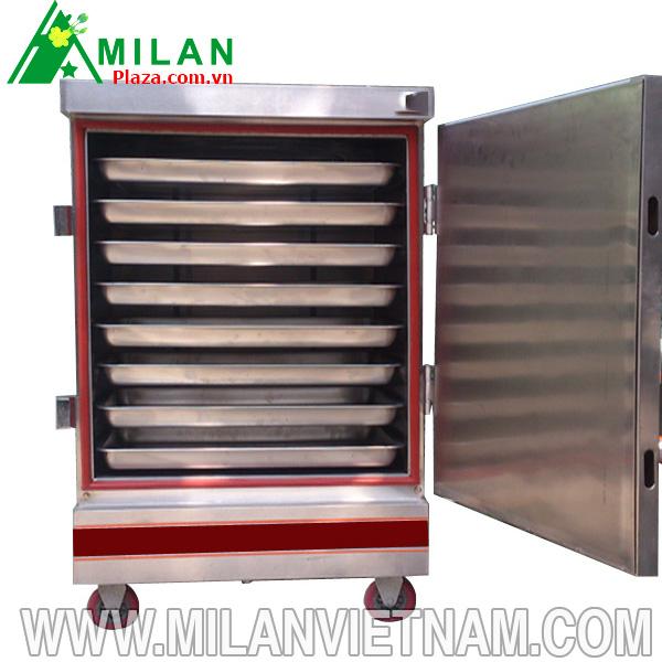 Cách sử dụng tủ nấu cơm công nghiệp dùng điện 8 khay