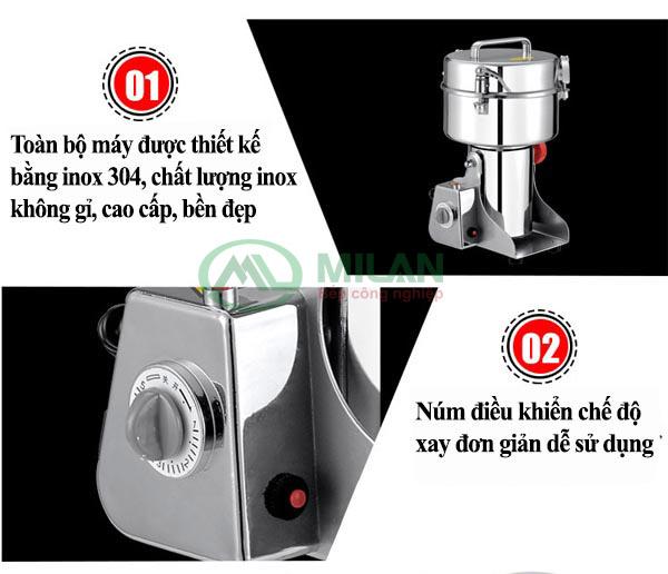 ưu điểm của máy xay thuốc bắc IC 10