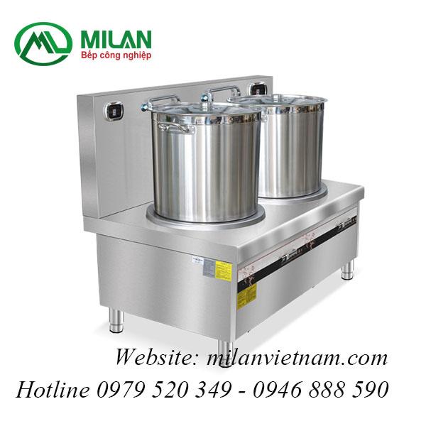 Bếp từ công nghiệp đôi phẳng có vòi rửa HZD-15KW-2PDKCL