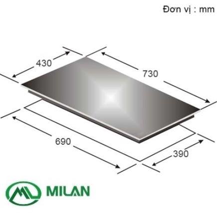 kích thước lắp đặt bếp từ Canzy cz 77i - Milan